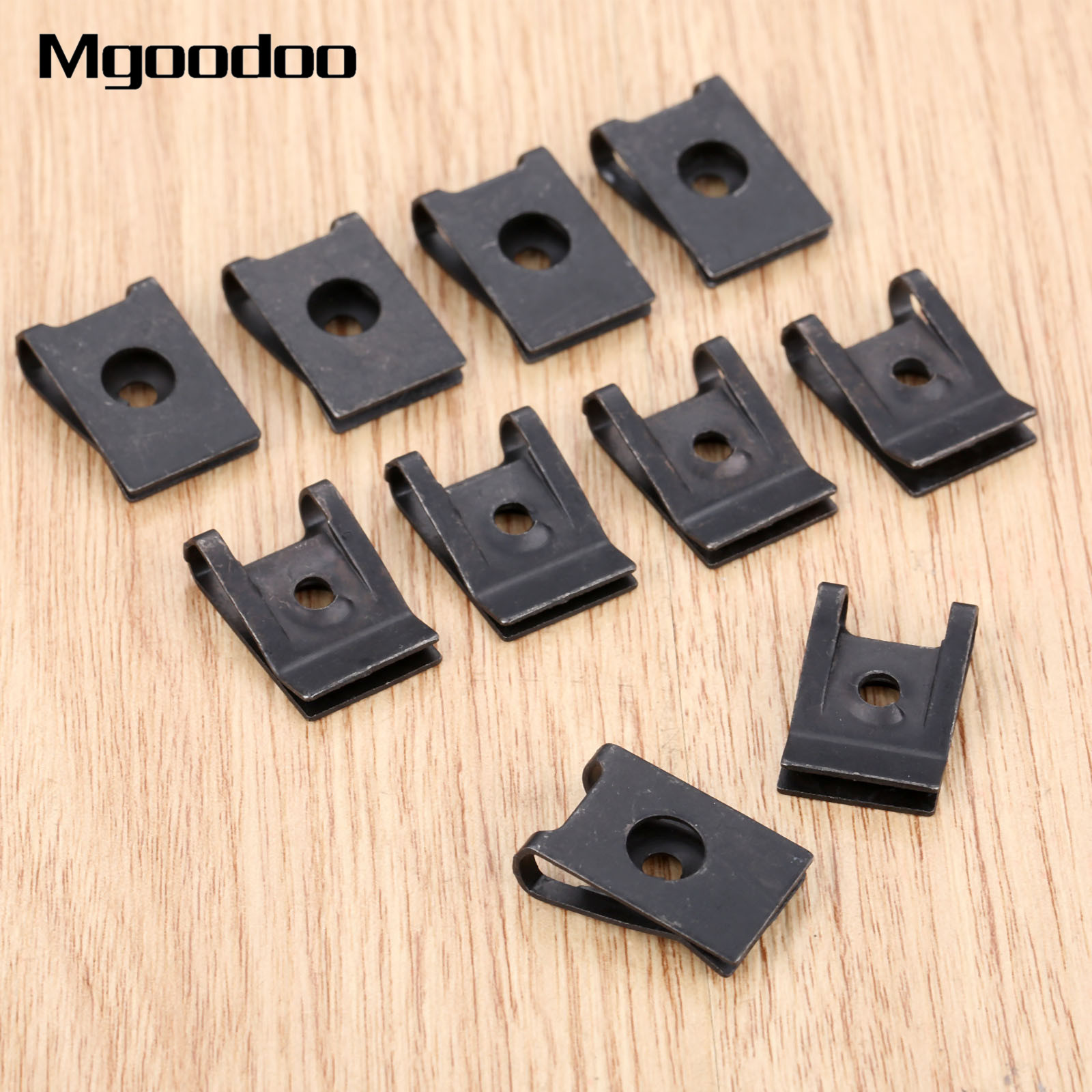 Bumper U Type Clips Doors Panel Fender Guard Clamp 3MM Interior Metal Car