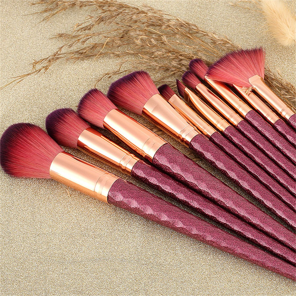 ISHOWTIENDA 10Pcs Professional Cosmetic Makeup Brushes Set ...