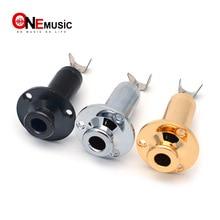 Латунная Акустическая Электрогитара концевой контакт EQ разъем вход/выход гитарная розетка 6,35 гитарные части черный серебристый золотой 3 цвета