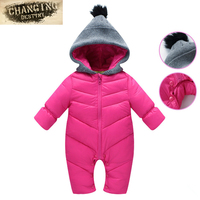 Newborn Baby Rompers Autumn Winter Boy Clothes Jumpsuit Girl Solid Color Rompers Baby Warm Romper Newborn