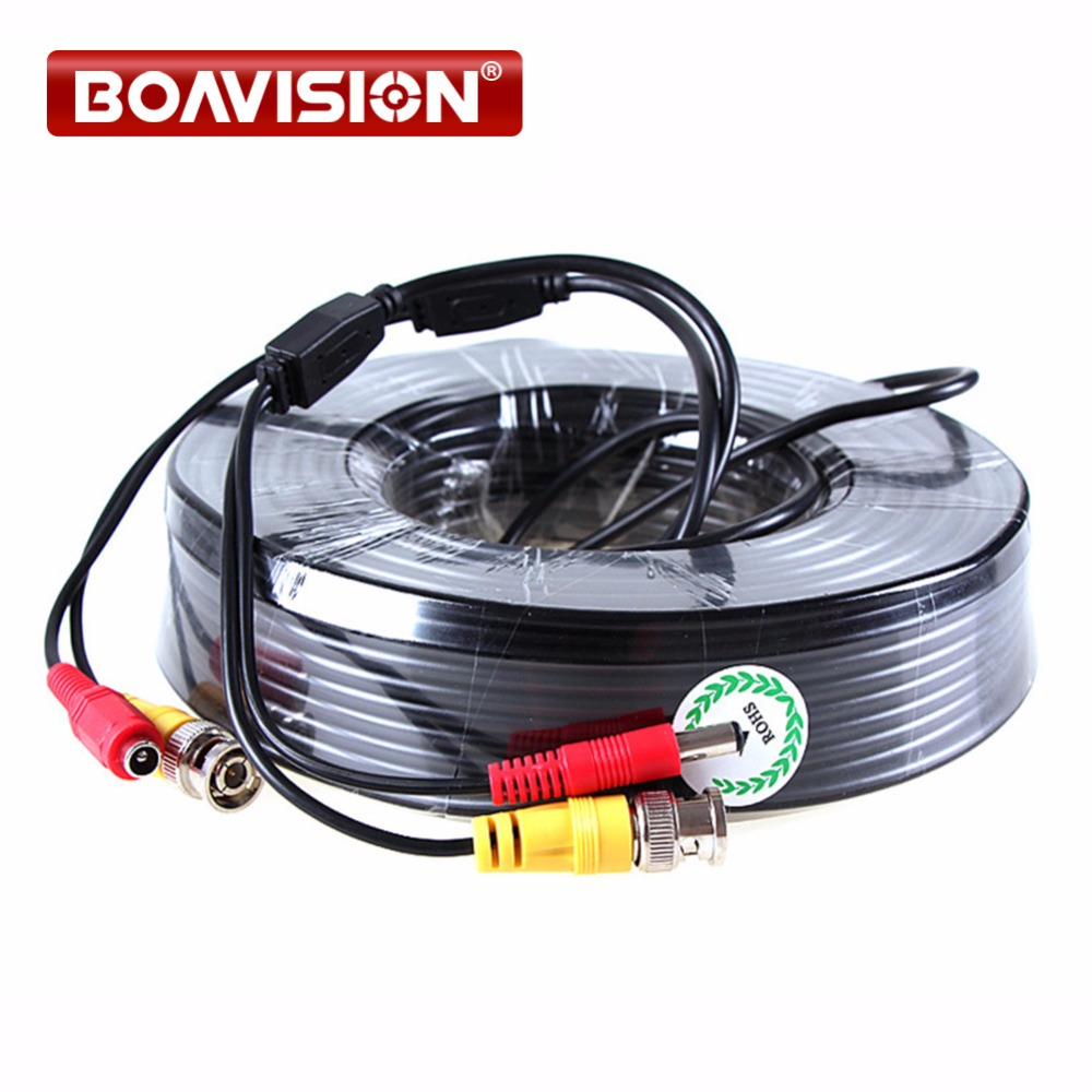 1 x 165FT/50M Black CCTV Security Surveillance Camera Video Power Cable coaxial cable for CCTV sunchan 50m 165ft security camera video power cable bnc dc coaxial cable cctv accessories for surveillance camera system kit