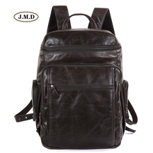 J.M.D New Arrivals Genuine Leather Men's Fashion New Design Large Capacity Travel Tote Rucksack Male Laptop Bag Backpack 7202J