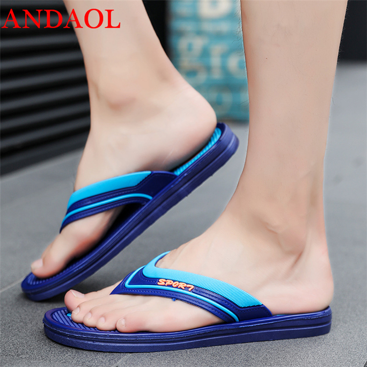 ANDAOL men 39 s Summer casual sandals Top Quality Moccasins Outdoor Light Beach Slippers Fashion Flip Flops Non Slip Flats shoes in Men 39 s Sandals from Shoes