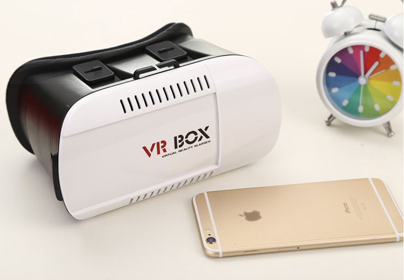 50pcs/lot Factory Supply 3D Head Mount VR Box 1 nd Generation Virtual Reality vr glasses & Bluetooth Remote Control 7