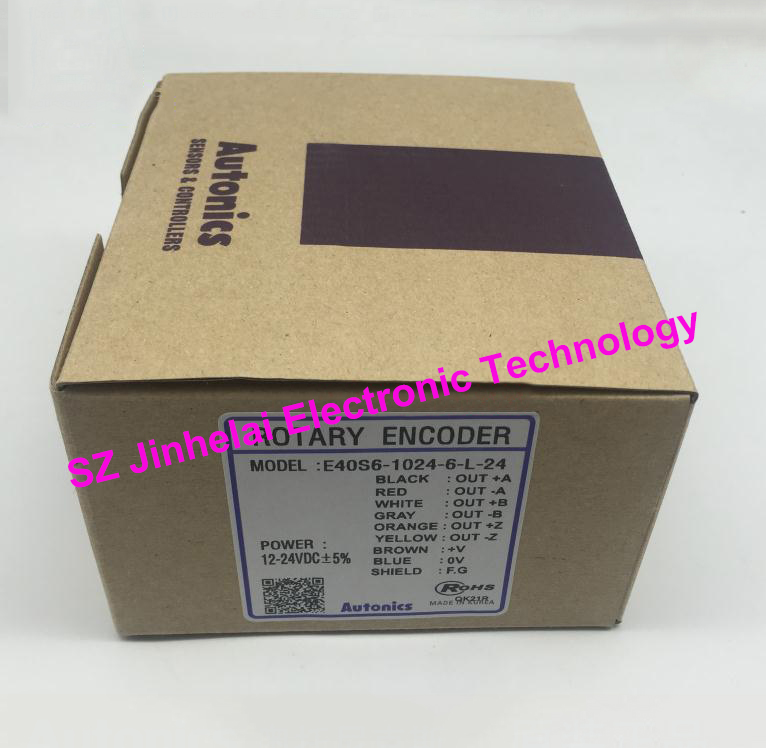 E40S6-1024-6-L-24 New and original AUTONICS Incremental rotary encoder 12-24VDC цены