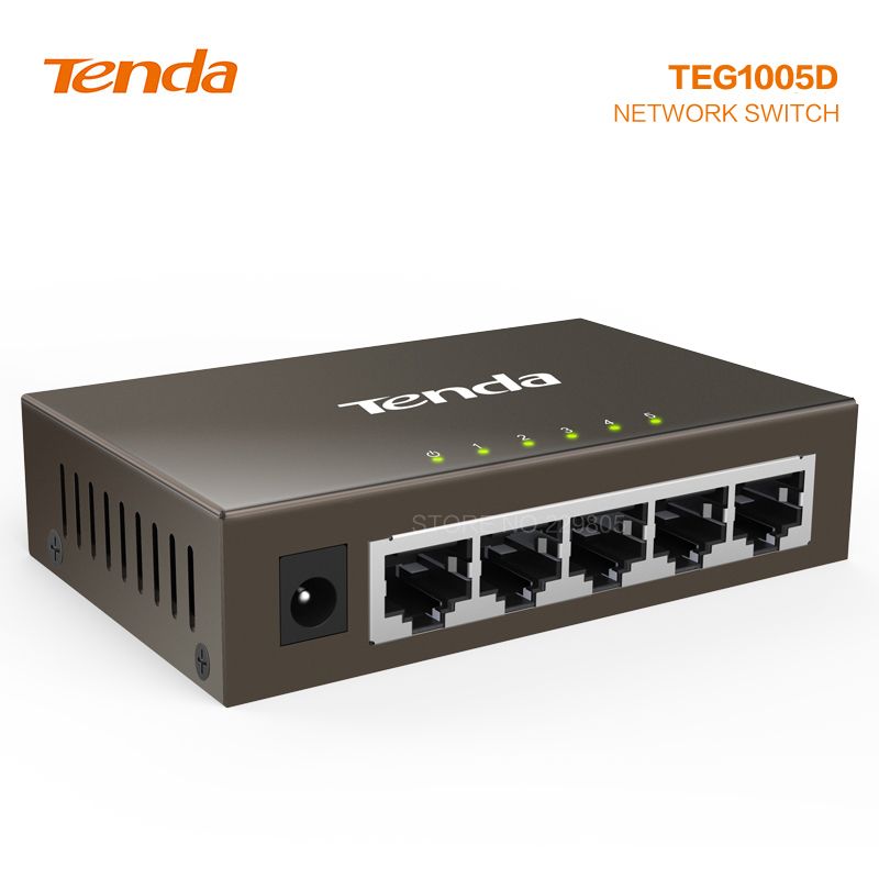 Tenda TEG1005D 5 Port Gigabit Switch Metal Switch Frame Of Enterprise Network Monitoring Deconcentrator 10/100/1000mbp Switch