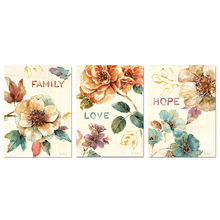 triptych,5D DIY Diamond Painting Flower 3D Full Square Embroidery Cross Stitch Home Decor Y2603