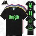 Unkut футболки для мужчин прохладный футболки светятся в темноте летом с коротким рукавом футболки моды теэ S-6XL