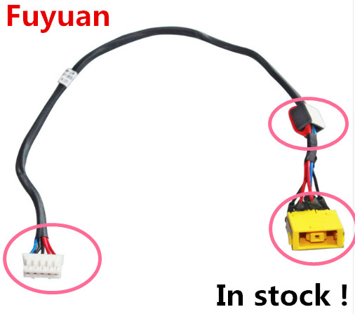 New Laptop DC Power Jack Cable For Lenovo G400 G500 G505 G510 original new laptop dc power port jack connector interface with cable for lenovo g500 g505 g400 g490 series