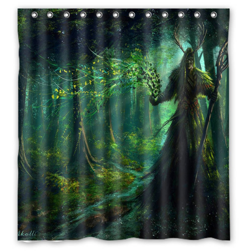 Fairy shower curtain - Anime Shower Curtain One Piece Dragon Ball Z Bleach Fairy Tail Naruto Together Druid Shower Curtain