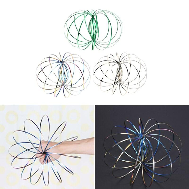 fb1ffa49310 Fluxo de magia Brinquedos Anel Cinética Primavera Engraçado Jogo Ao Ar  Livre Crianças Engraçado 3D Braço Giratório Inteligente Indutivo Slinky  Brinquedos