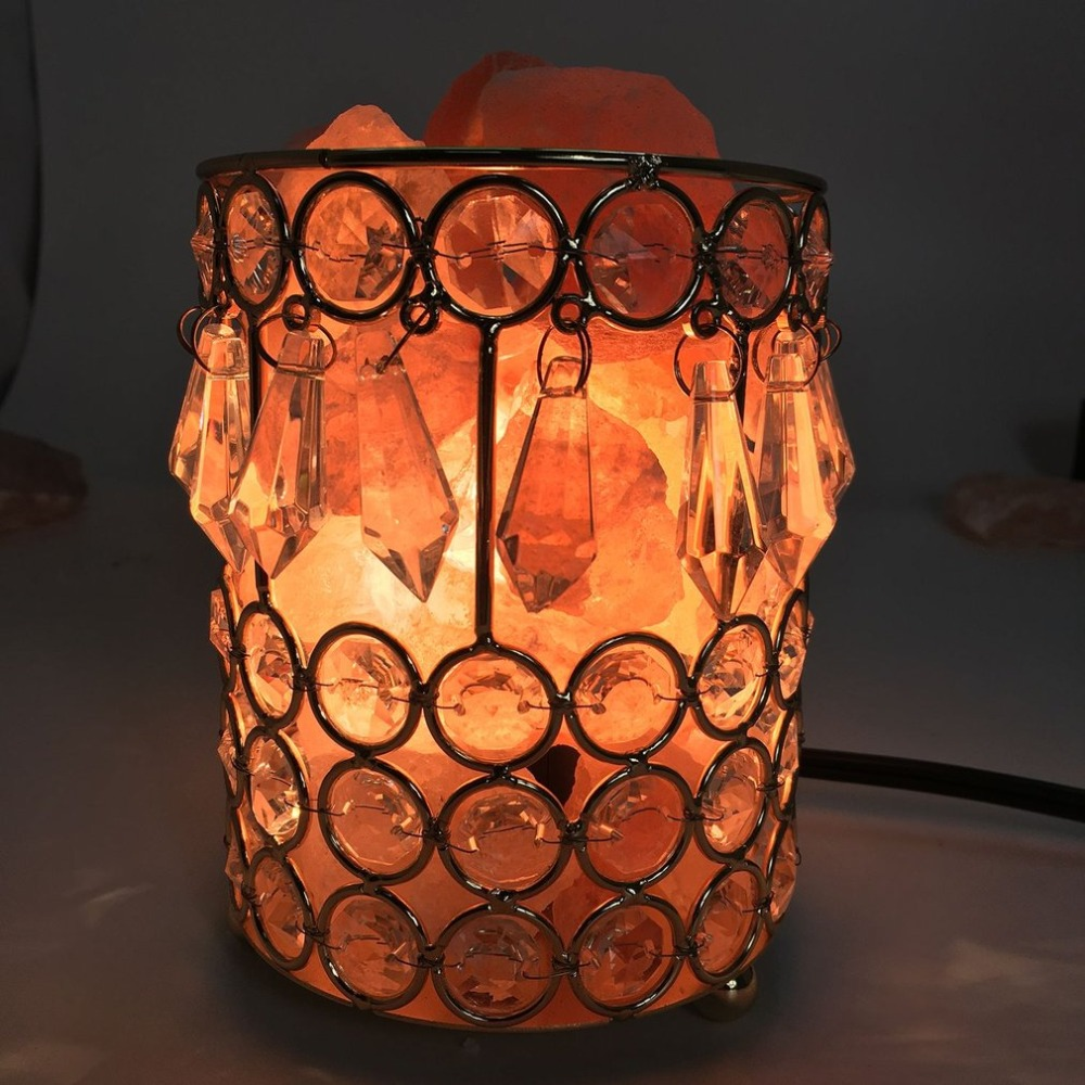 Healthy Himalayan Natural Crystal Salt Light Home Bedroom Night Lamp Air Ionizer Purifier Air Purifying Salt Lamp