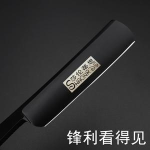 Image 2 - Профессиональные старинные прямые лезвия из нержавеющей стали японские 440c острые парикмахерские лезвия складной нож для бритья