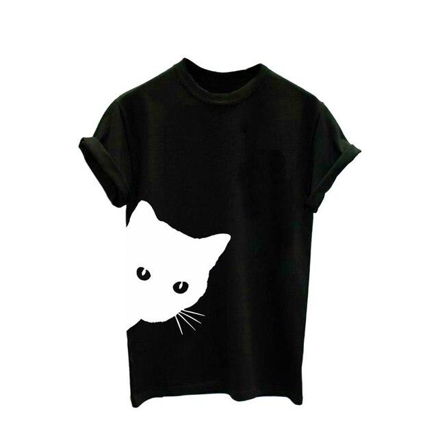 Cute Cat TShirt Short...