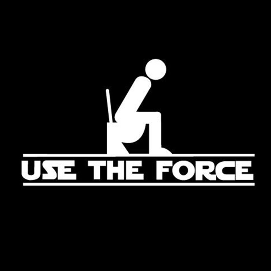 USE THE FORCE WC TOILET STICKER DECAL VINYL CAR  STAR WARS sticker