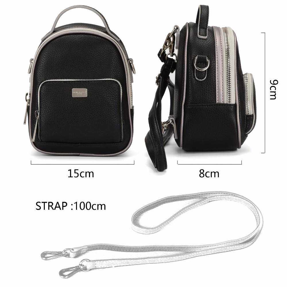 DAVIDJONES Shoulder Bags Women Backpack Bag Fashion School Bags For Girls Top-handle Backpack PU Versatile Bags For Women