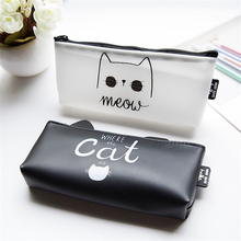 1 Pc Kawaii Cute Cat Pen Pencil font b Bag b font Silicon School Stationery Pencil