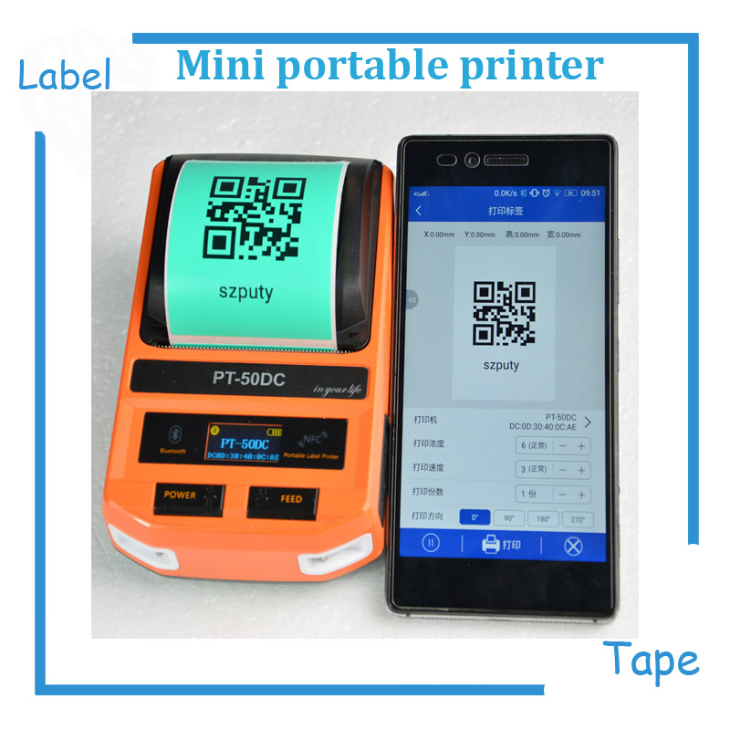 Mini Thermal Label Printer label Printing Machine with USB/ Bluetooth for network cabel, tail cable, flat cable, check cable etc 12mm extra long head micro usb cable extended connector 1m cabel for homtom zoji z8 z7 nomu s10 pro s20 s30 mini guophone v19