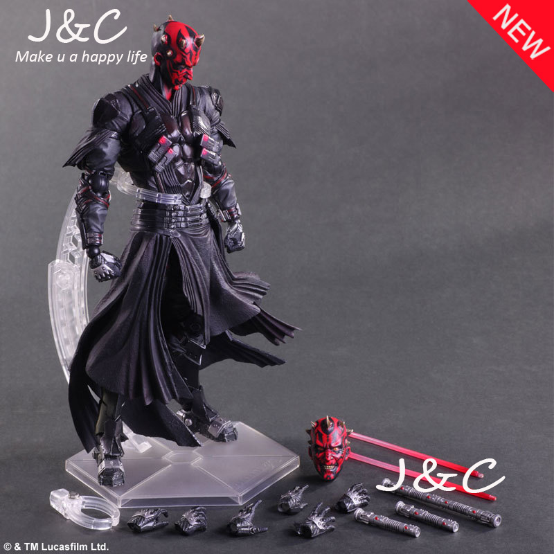 Play Arts Star War Darth Maul PA Black Knight Darth Vader Imperial Stormtrooper 27cm PVC Action Figure Doll Toys Kids Gift стоимость