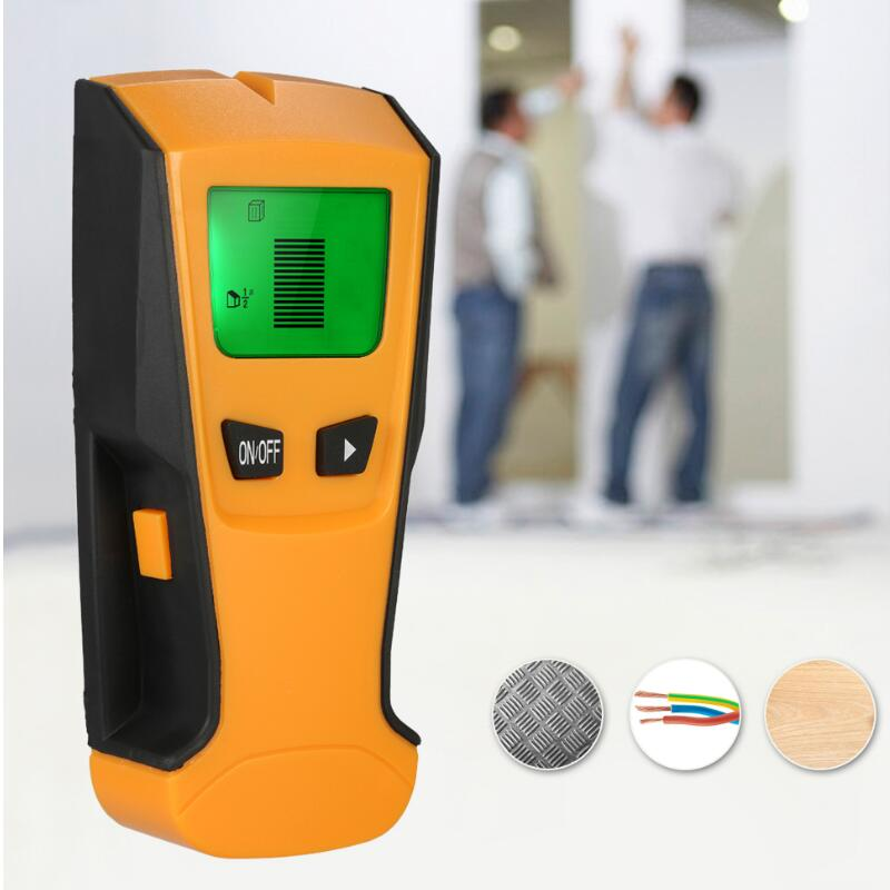 Multi-functional Digital Wall Detector Handheld Metal Wood Studs Finder AC Cable Live Wire Scanner Smart Beep LCD multi scanner 3in1 lcd wall stud detector metal voltage cable wood finder portable live wire scanner tool