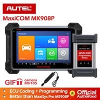 Autel MaxiCOM MK908P инструмент диагностики Поддержка 15 языков J2534 инструментов программирования программатор ЭБУ 2019 Новый PK MS908 PRO MS908P сканер