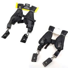 "Duplo Ombro Camera Neck Sling Strap Rápida + Apertem Adaptador 1/4 ""pequeno Parafuso para a Câmera SLR DSLR D3100 D3200 60D 5D2 5D3 5D"
