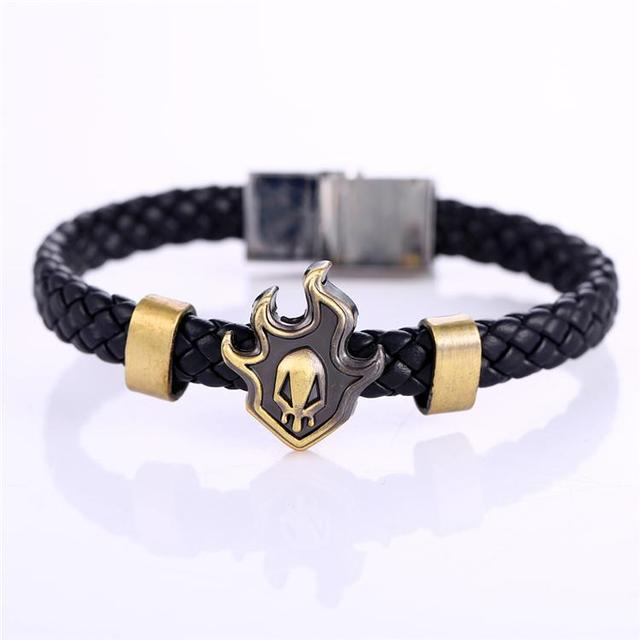 MOSU Hot Animation Bleach Alloy Bracelets fire Weave leather bracelet & Bangle cosplay jewelry