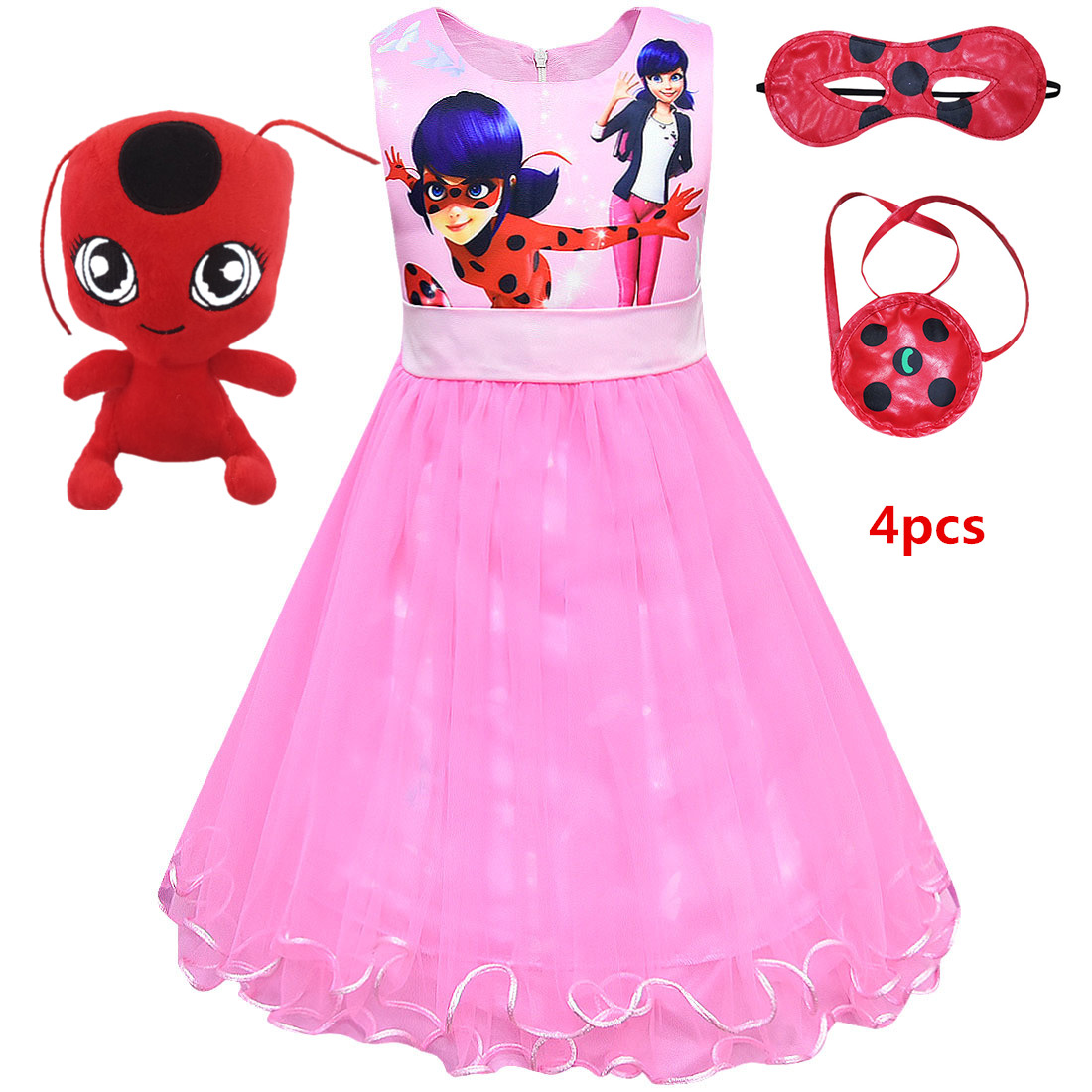 2019 GIRL/'S CLOTHING Summer Sleeveless Lol Doll Party Birthday Tailored Dress #