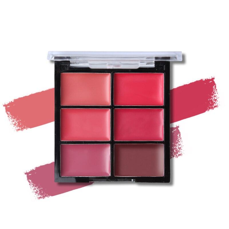 Women Beauty Makeup 6 Colors Matte Lipstick Palette Waterproof Nude Lip Stick Cream Moisturizer Sexy Batom Long-lasting Cosmetic 4