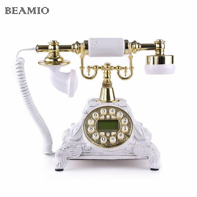 Retro Telefon Antike Telefone Mit Call ID Festnetz Fr Office Home Wohnzimmer