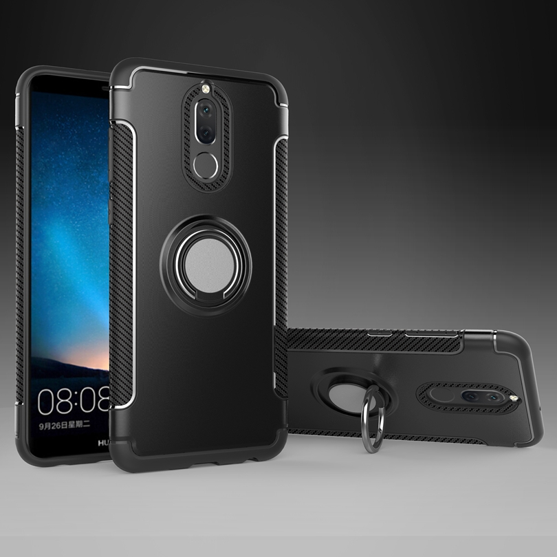 For Huawei Head 6 / Mate 10Lite 5.9 Case Vehicle Armor Cover With Ring Stand Skin Shockproof Shell Cover Case For Huawei Head6