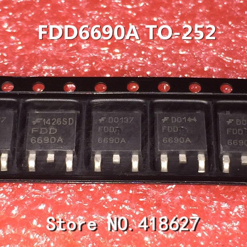 100 шт./лот 6690A FDD6690A к-252 30 В 46A n-канальный чип MOS трубки полевой
