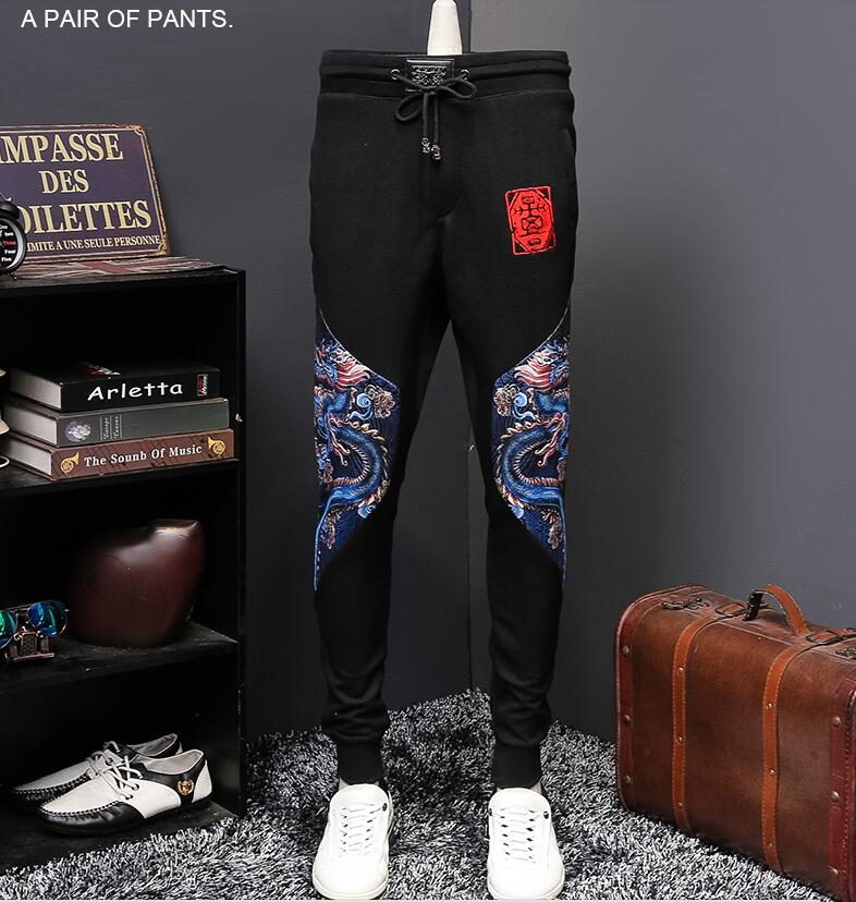 2017 Hot Sale Midweight Flat Full Length Regular Pencil Pants Pattern Mid The Fall Of New Casual Mens Trousers