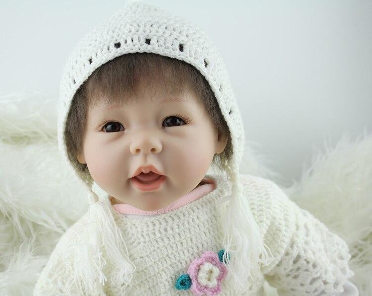 ФОТО reborn dolls baby-reborn girl soft body silicone dolls best children sleeping boy gift toys brinquedos