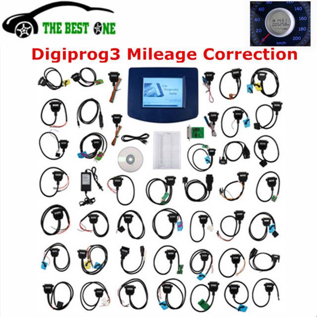US $141 55 5% OFF|2017 Newest V4 94 Digiprog III Digiprog 3 Odometer  Programmer Digiprog3 Car Mileage Adjustment Tool Digi Pro 3 Full Set Cables  on