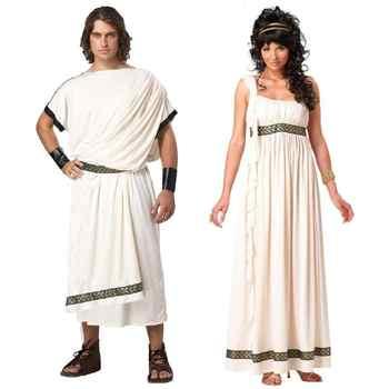 Ancient Greek Mythology Olympus Zeus Hera Fancy Dress Toga God Goddess Cosplay Costume - DISCOUNT ITEM  37% OFF All Category