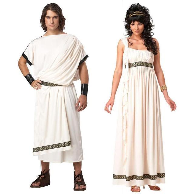 Ancient Greek Mythology Olympus Zeus Hera Fancy Dress Toga