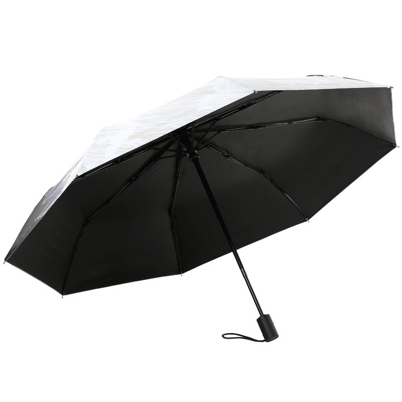 Hand Painted Printing Creative Fully-automatic Umbrella Men Women Folding  Sunny and Rainy Umbrella Parasol Super Strong Anti UV - us322 ad7808b894d8