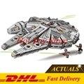 DHL 1381 pcs 2017 79211 LEPIN 05007 Montar Blocos de Construção de Star Wars Millennium Falcon Força Despertar Compatível com 75105