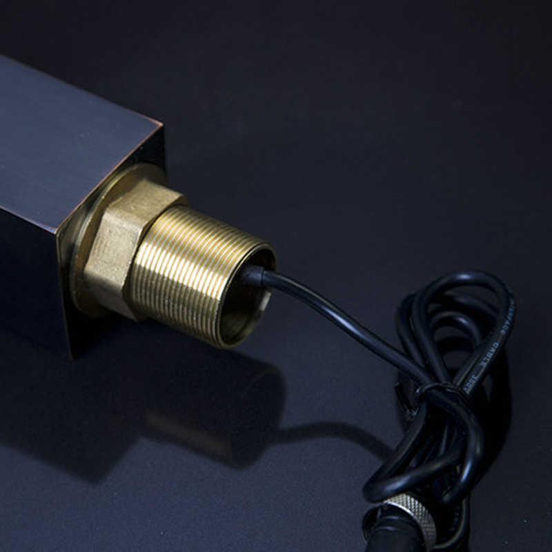 Jieni Sensor Otomatis Kamar Mandi Keran Wastafel Panas Dingin Air Keran Mixer Touch-Gratis Inframerah Basin Tap Bola