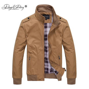 DAVYDAISY 2020 New Men Jacket L-5XL Men Spring Autumn Outerwear Mandarin Causal Fashion Male Coats Male Bomber Jackets JK103