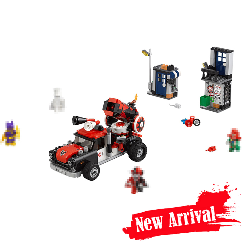 LEPIN 07097 DC Batman Harley Quinn Cannonball Attack Truck 70921 Super Heroes Figures Building Blocks Bricks Toys For Kids ...