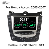 Android 6.0 Quad Core car dvd player gps navigation for honda accord 7 2003 2007 EURO car Radio dual / Single Zone Climate