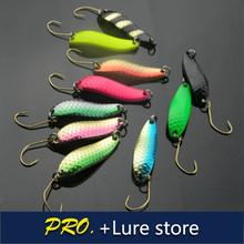 Free shipping 10pcs 6.5 g 2016 new colorful fishing spinner spoon baits metal hard spoon decorative lure metal bass spoonlure