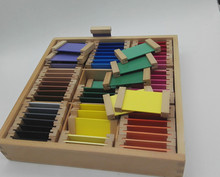 New Wooden Baby Toy Montessori Wood Color Tablet Box Early Childhood Education Preschool Training Kids Toys Baby Gifts 8pcs set baby montessori sensorial wooden toys blocks early childhood education preschool training kids toy gifts for children