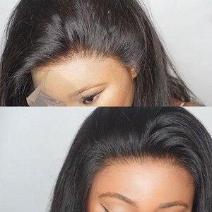 Image 5 - Parrucche corte Bob per donna parrucca frontale in pizzo ondulato radici nere Remy parrucche brasiliane anteriori in pizzo parrucche ondulate naturali 130%