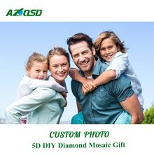 Azqsd diamante bordado foto personalizado quadrado completo/redondo strass pintura diamante ponto cruz diy presente artesanato mosaico