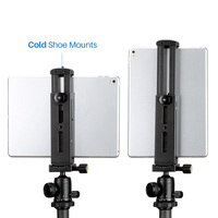 Tablet PC Tripod Stand Aluminum Holder with Quick Release Plate for iPad Mini/4/Pro/Surface Pro 8 DJA99