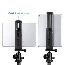 Support en aluminium pour trépied pour tablette avec plaque de dégagement rapide pour iPad Mini/4/Pro/Surface Pro 8 DJA99