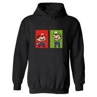 Yeni Kış Giysileri Süper Mario Hoodies Baskı Moda Süper Mario Ben Oynamak Istiyorum Bir Oyun Kamuflaj Kapüşonlu Tişörtü 3xl